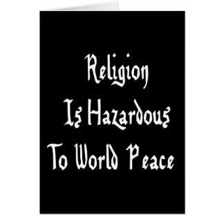 Peligro de la religión tarjeta