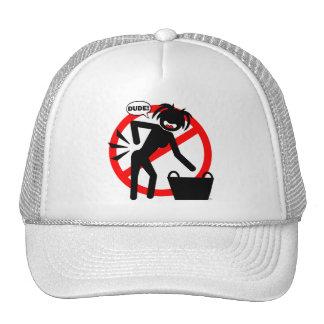 ¡Peligro del lavadero! Gorras De Camionero