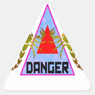 Peligro Pegatina Triangular
