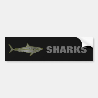 Peligro - tiburones salvajes pegatina para coche