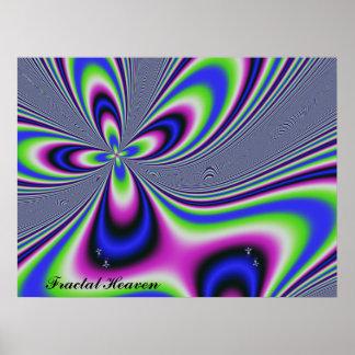 Pellizco de la dicha de los pecados del fractal mi póster