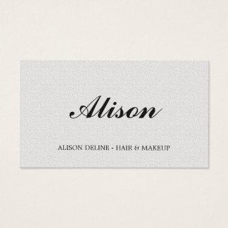 Pelo blanco y maquillaje de la textura elegante tarjeta de negocios