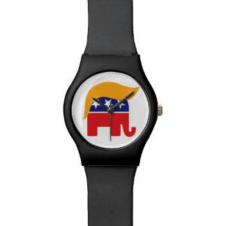 Pelo del elefante del GOP de Donald Trump - es Reloj De Pulsera