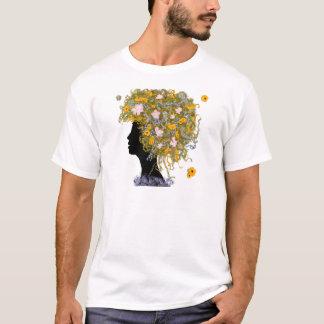 Pelo del flower power camiseta