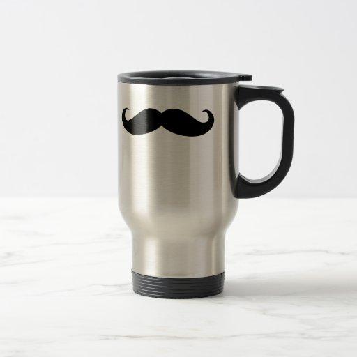 Pelo facial del bigote divertido del disfraz del b taza de café