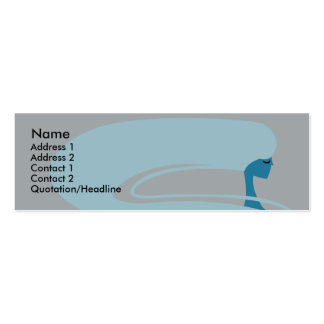 Pelo largo - flaco plantillas de tarjetas de visita