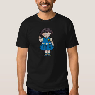 Pelo negro de la margarita camiseta