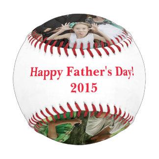 Pelota De Béisbol Béisbol de la foto del día de padre personalizado