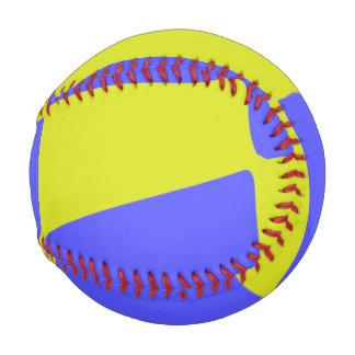 Pelota De Béisbol Cuadrados amarillos y azules