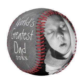 Pelota De Béisbol El día de padres personalizó uno de una clase por