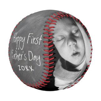 Pelota De Béisbol El primer día de padres personalizó uno de una