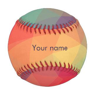 Pelota De Béisbol El triángulo poligonal moderno coloreado añade su