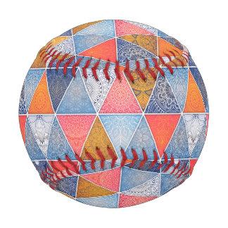 Pelota De Béisbol Modelo geométrico colorido de las mandalas de los