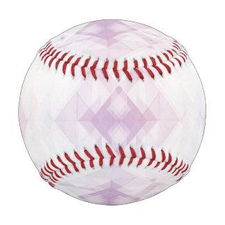 Pelota De Béisbol Modelo geométrico rosa claro
