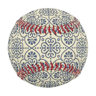 Pelota De Béisbol Modelo ornamental floral geométrico retro