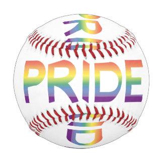 Pelota De Béisbol Orgullo de la bandera del arco iris