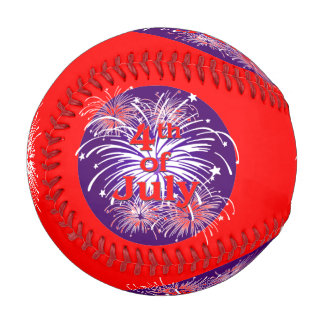 Pelota De Béisbol Rojo brillante 4to de la celebración de los fuegos