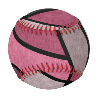 Pelota De Béisbol Salida del sol rosada, abstracta