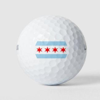 Pelota de golf de Wilson con la bandera de la
