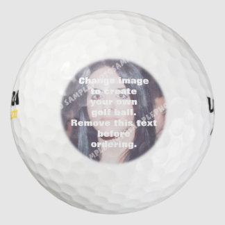 Pelota de golf personalizada de la foto. ¡Haga sus
