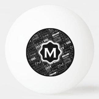 Pelota De Ping Pong 21ro monograma personalizado de la fiesta de