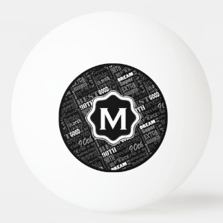 Pelota De Ping Pong 90.o monograma personalizado de la fiesta de