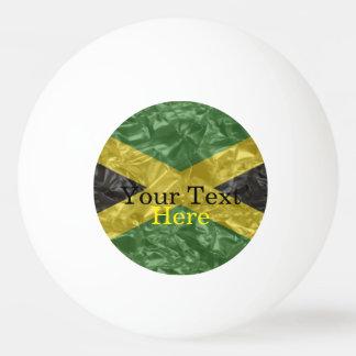 Pelota De Ping Pong Bandera jamaicana - arrugada