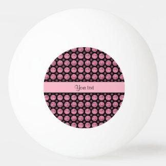 Pelota De Ping Pong Botones rosados brillantes glamorosos del brillo