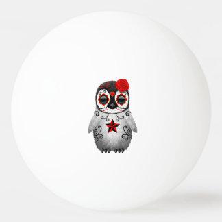 Pelota De Ping Pong Día rojo del pingüino muerto del bebé