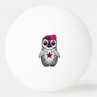 Pelota De Ping Pong Día rosado del pingüino muerto del bebé