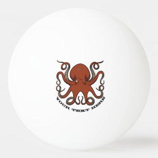 Pelota De Ping Pong Dibujo animado rojo feroz de los tentáculos del