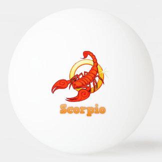 Pelota De Ping Pong Ejemplo del escorpión