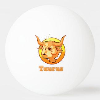 Pelota De Ping Pong Ejemplo del tauro