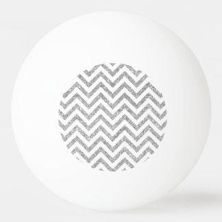 Pelota De Ping Pong El zigzag de plata del brillo raya el modelo de