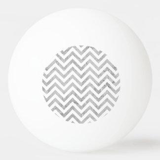 Pelota De Ping Pong El zigzag elegante de la hoja de plata raya el