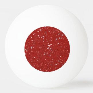Pelota De Ping Pong Estrellas del purpurina - rojo de plata