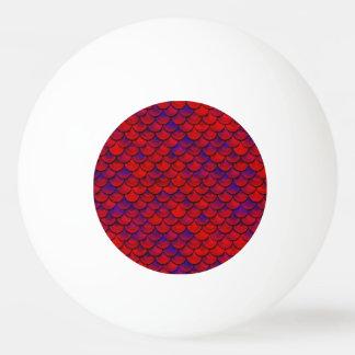 Pelota De Ping Pong Falln escalas rojas y de la púrpura