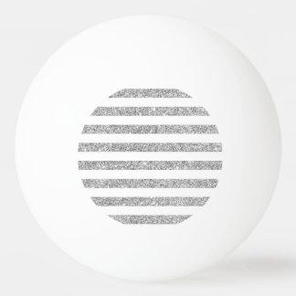 Pelota De Ping Pong Falso modelo de plata elegante de la raya del