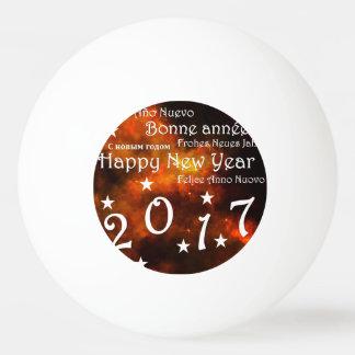 Pelota De Ping Pong Feliz Año Nuevo 2017