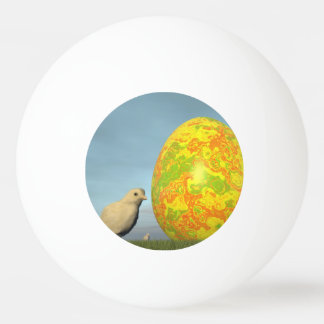 Pelota De Ping Pong Huevo y polluelos de Pascua - 3D rinden