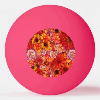 Pelota De Ping Pong Margaritas candentes ricas del ramo brillante