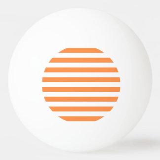 Pelota De Ping Pong Modelo anaranjado y blanco de la raya