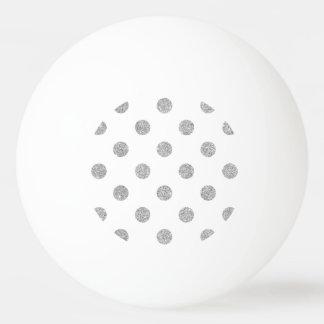 Pelota De Ping Pong Modelo de lunares de plata elegante del brillo