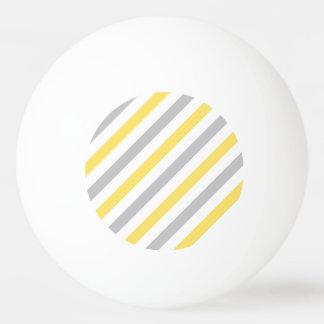Pelota De Ping Pong Modelo diagonal gris y amarillo de las rayas