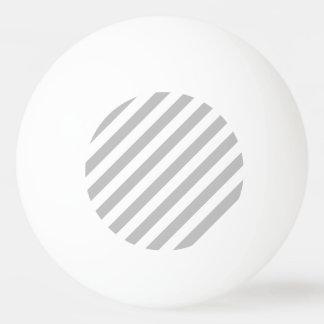 Pelota De Ping Pong Modelo diagonal gris y blanco de las rayas