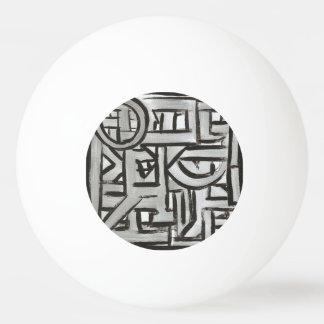 Pelota De Ping Pong Modelo pintado Geométrico-Mano de textura negra