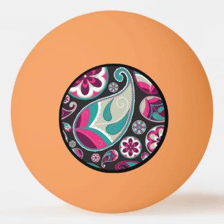 Pelota De Ping Pong Modelo rosado de Paisley del trullo