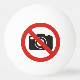 Pelota De Ping Pong Ningunas fotos permitidas