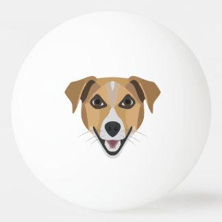 Pelota De Ping Pong Perro Terrier sonriente del ilustracion