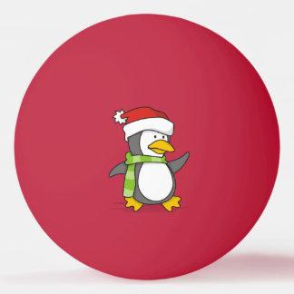 Pelota De Ping Pong Pingüino del navidad que camina en nieve